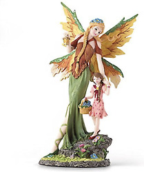 Wings Of Autumn Angel And Child By Lenox