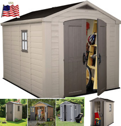🎪keter Large Resin All Weather Outdoor Plastic Backyard Garden Storage Shed