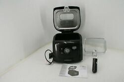 See Notes Hamilton Beach Deep Fryer Cool Touch Sides Easy Clean Nonstick Basket