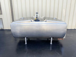 Solar 500 Gallon Refrigerated Jacket Bulk Milk Stainless Steel Tank With Mixer