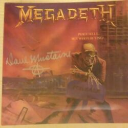 Dave Mustaine Signed Megadeth Peace Sells But Whoand039s Buying Lenticular Lp Cover
