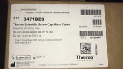 Thermo Scientific Screw Cap Micro Tubes With O-ring Blue Eo-sterile 5000 X Case