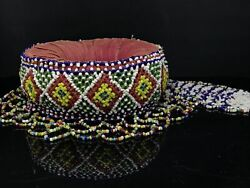 Native American Beaded Head Pot Support Rest Early 20th C Seminole Antique Trade