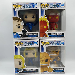 Funko Pop Mister Fantastic 557 Human Torch 559 Invisible Girl 558 The Thing