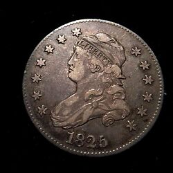 1825/3 Over 23 B-2 Capped Bust Silver Quarter Dollar Xf 25c Cent Eagle Rare