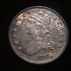 1831 Capped Bust Silver Quarter Dollar Unc Ms Bu 25c Cent Eagle Rare Type Luster
