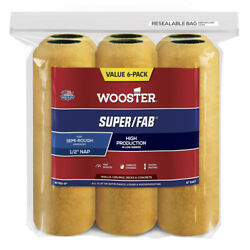Wooster Super/fab Knit 9 In. W X 1/2 In. Regular Paint Roller Cover -case Of 10