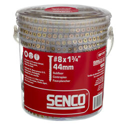 Senco Duraspin No. 8 X 1-3/4 In. L Square Yellow Zinc-plated Wood Scr -case Of 6