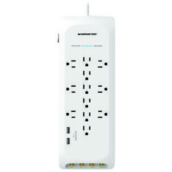 Monster Just Power It Up 6 Ft. L 12 Outlets Power Strip W/surge Prot -case Of 24