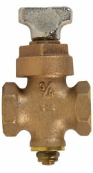 Bk Products Proline 3/4 In. Fip X 3/4 In. Fip Brass Ground Key Stop And -pack Of 1