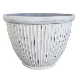 Southern Patio 15 In. Dia. Resin Westland Patio Planter Afterglow Whi -case Of 8