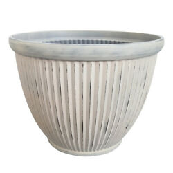 Southern Patio 15 In. Dia. Resin Westland Patio Planter Wheat -case Of 8
