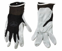 Atlas Unisex Indoor/outdoor Nitrile Dipped Gloves Black/gray S 1 Pa -case Of 144