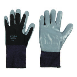 Atlas Unisex Indoor/outdoor Nitrile Dipped Gloves Black/gray Xl 1 P -case Of 144