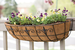 Living Accents Steel Window Planter Black -case Of 6