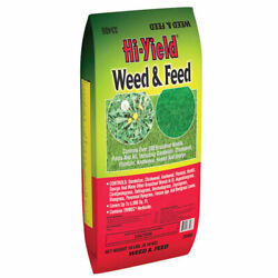 Hi-yield Weed And Feed 15-0-10 Lawn Fertilizer 5000 Sq. Ft. For All Gr -case Of 64