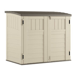 Suncast 4 Ft. X 2 Ft. Plastic Horizontal Storage Shed With Floor Kit -case Of 4