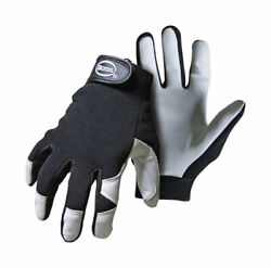 Boss Guard Menand039s Indoor/outdoor Mechanicandrsquos Glove Black/white L 1 Pai -case Of 72