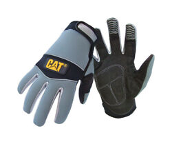 Caterpillar Menand039s Indoor/outdoor Padded Mechanicandrsquos Glove Gray L 1 Pa -case Of 72