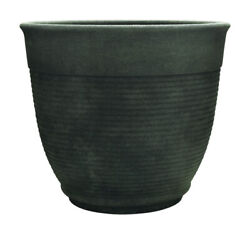Southern Patio 12.6 In. H X 14.6 In. Dia. Resin Multi-ring Planter Gr -case Of 6
