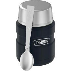 Thermos Stainless King 16 Oz. Midnight Blue Vacuum Insulated Food Jar -case Of 4