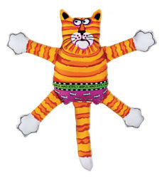 Fat Cat Multicolored Assorted Styles Nylon Squeak Dog Toy Small 1 -case Of 24