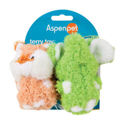 Aspen Pet Multicolored Elephant Terrycloth Squeak Dog Toy Small -case Of 30