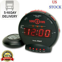 Sonic Bomb Dual Extra Loud Alarm Clock with Bed Shaker Fast Shipping US