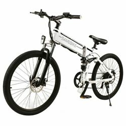 Samebike Lo26 Smart Folding Electric Moped Bike 26 Inch Inflatable Rubber Tire 5