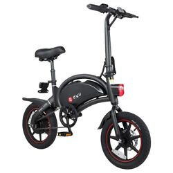 Dyu D3+ Folding Moped Electric Bike 14 Inch Inflatable Rubber Tires 240w Motor