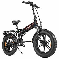 Engwe Ep-2 Pro 750w 20 Inch Fat Tire Electric Folding Bicycle Mountain Beach