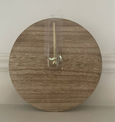 Horizon Battery Clock Natural Wood with Gold Hands Minimalistic