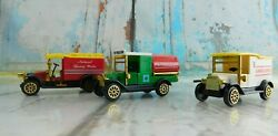 Trucks Ambulance Petroleum And Natural Spring Water Toy Cars Antique Look