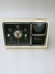 Vintage Zenith Model F452w2 Table Am/fm Clock Radio. For Parts Or Repair