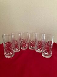 St Louis France Vintage Crystal Chantilly Set 6 Highball Glasses-new Condition