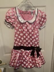 New Disney Minnie Mouse Dress Costume Girls Juniors Size Small 3-5 Complete