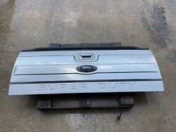 2011-2016 Ford F250 F350 Oem Platinum Tailgate Ignot Silver W/ Step And Camera