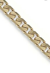 """Solid 9ct Yellow Gold Men's Chunky Bracelet Tight Link Curb Chain 8"""" 30g"""
