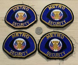 Lot Of 4 Metro Security Cosplay Costume Patches