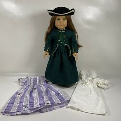 American Girl Doll Felicity Merriman 1991 With 3 Outfits - Retired, Euc