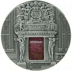 2016 3 Oz Silver 10 Fiji Palazzo Ducale Doge Palace Masterpieces In Stone Coin.