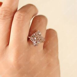 Natural Diamond Solid 14k Rose Gold 7 Us Ring Size
