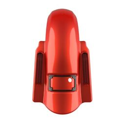 Candy Orange Dominator Stretched Rear Fender No Cutout For Harley 2009-2013