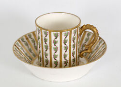 Rare Sevres Cup And Saucer Set By Drand Tasse Gobelet Litron 1764-1780