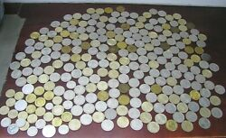 Casino Gaming Tokens Lot Of 228 Vintage 1 Metal Chips