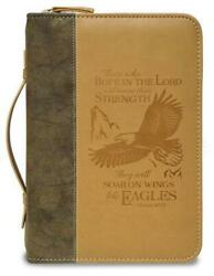 Bible Cover - Brown Wings Of Eagles