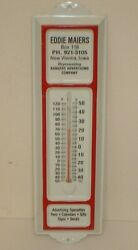 Vintage Eddie Maiers Bankers Advertising Co. Tin Thermometer New Vienna, Iowa