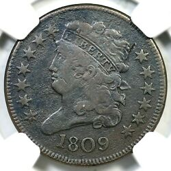 1809 C-1 R-4 Ngc Vf Details Classic Head Half Cent Coin 1/2c