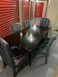 A Vintage Black Lacquered Farm Table Early/mid 20th Century.