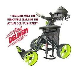 Caddytek Golf Push Cart Removable Seat - Lightweight Compact And Easy To Use Ou...